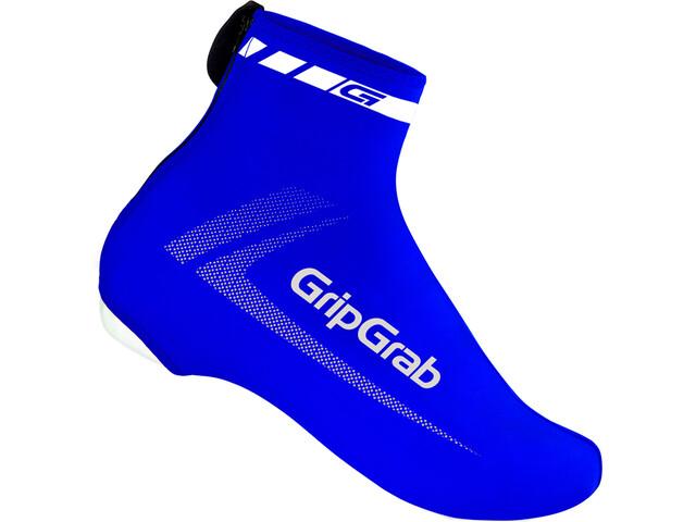 GripGrab RaceAero Cubrezapatillas de lycra liviana Hi-Vis, blue